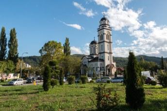 Vlakbij de orthodoxe kerk, Bogojavljenski Hram.