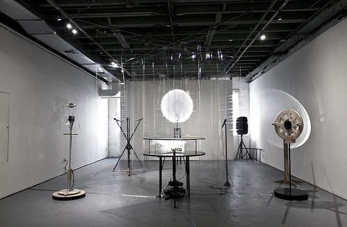 'Nothing Personal' is an interactive installation where the voice and position matters. In this built environment, every component influences its surroundings. The project focuses on how we communicate and highlights the areas in which nuance is blurred and communication and intention break down. The devices change their environment depending on the participant and the participant's physical position in the space.