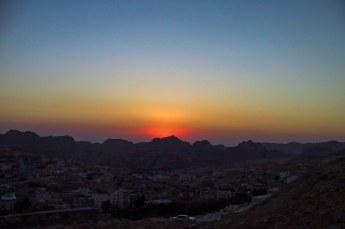 Diezelfde avond kwamen we nog net op tijd in Petra aan voor de zonsondergang.
