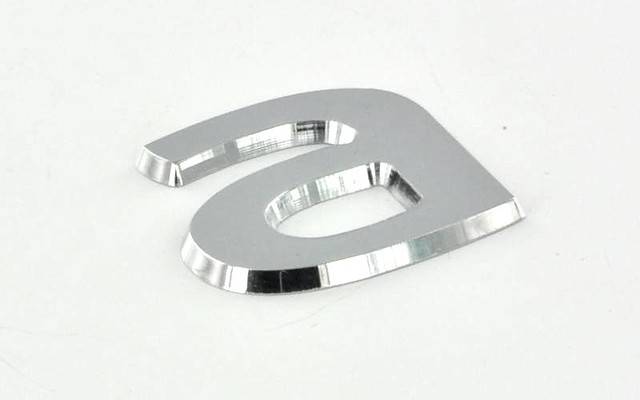 litery chromowane, frezowane CNC