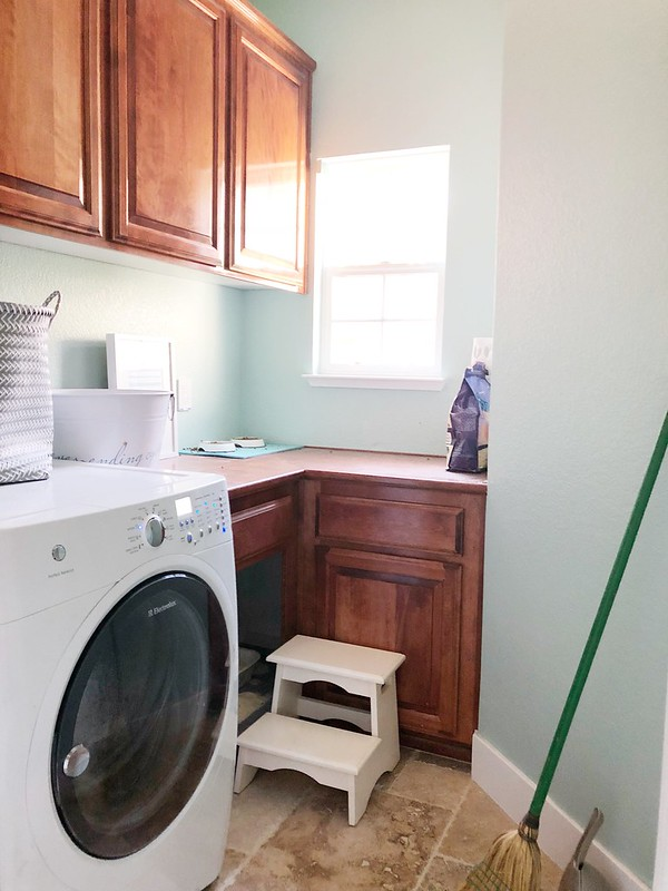 Photos of the laundry room right before remodeling