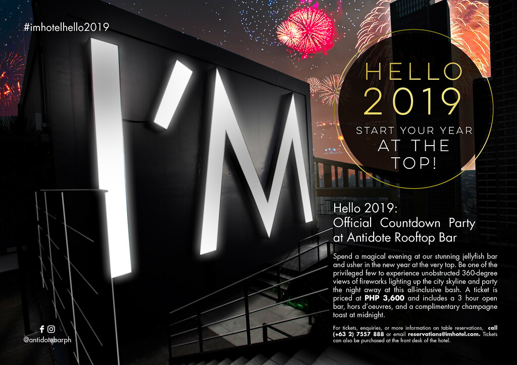 Hello 2019 I_M Hotel Official Countdown Party
