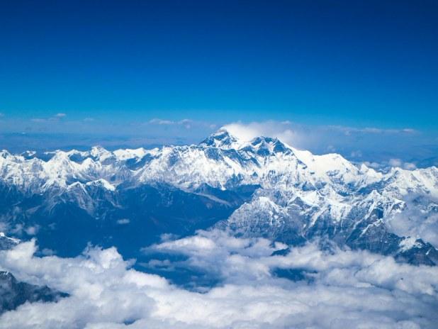 Vistas del Everest desde el avión