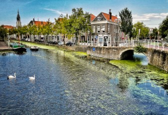 South End of the Oude (Old) Delft Canal