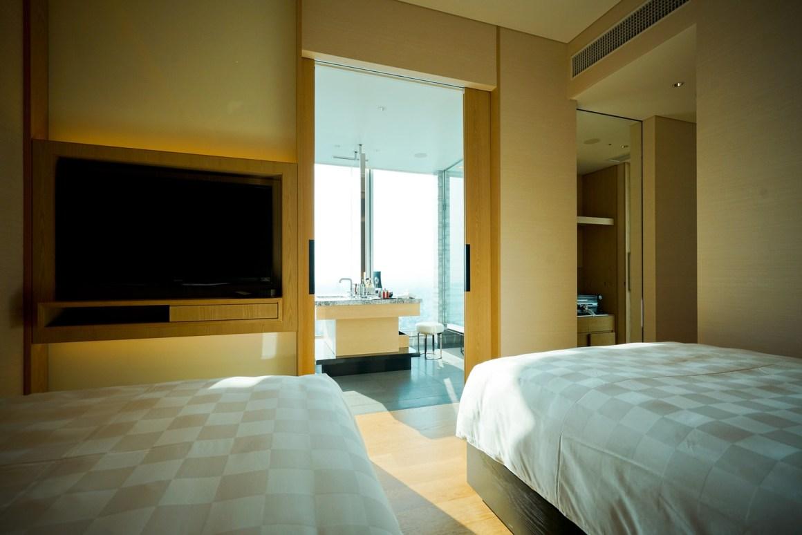 大阪萬豪都酒店 套房臥室兩張大床