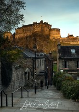 First Light Over Edinburgh Castle