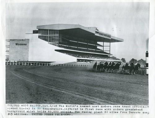 Rexdale Malton - UP Photo Woodbine Opening Day 1956-06-12
