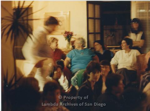 Alix Dobkin Concert, 1985, in the home of Carol Cianfarani: group shot