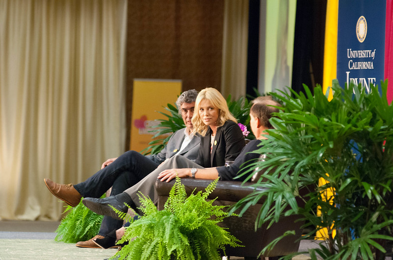 Charlize Theron at UC-Irvine Living Peace Series. December 4, 2010.