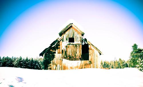Wooden elf hut