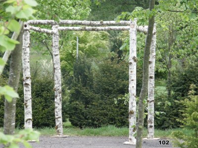 natural timber frame chuppah