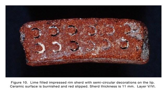 Figure 10 Lime Filled Rim Sherd