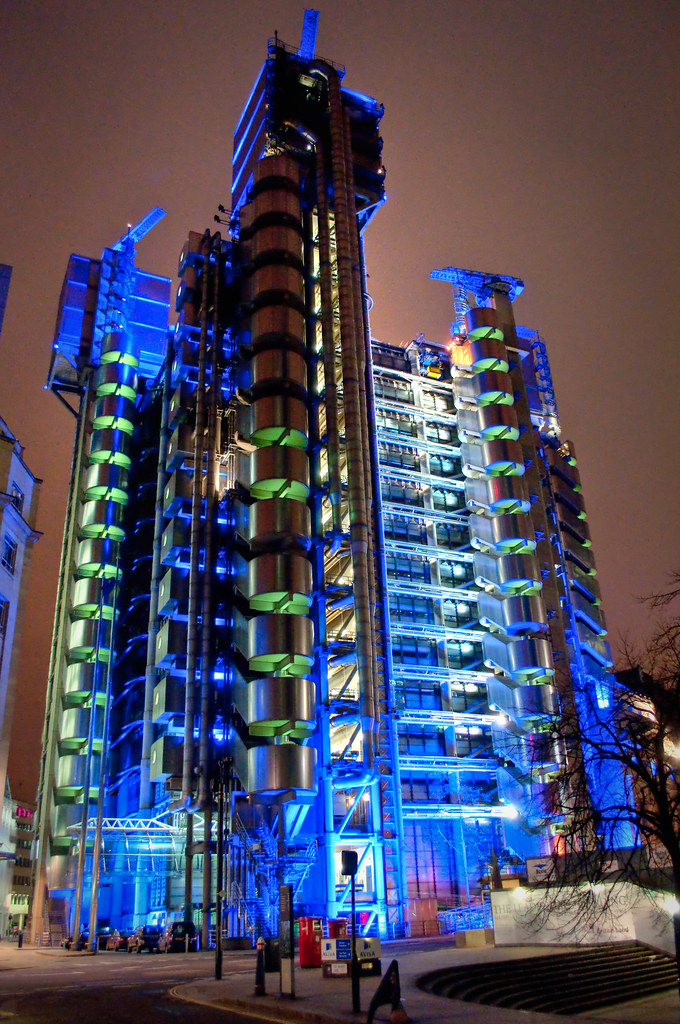 The Lloyds Building By Night Hdr These Are A Couple Of Nig Flickr