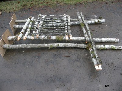 pergola disassembled prior to shipping