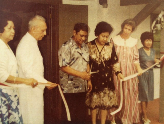 Ribbon Cutting Ceremony at Lujan House, 1982
