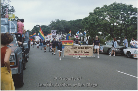 "P001.051m.r Pride 1991: Pride Parade and ""Lesbian and Gay Archives of San Diego"""