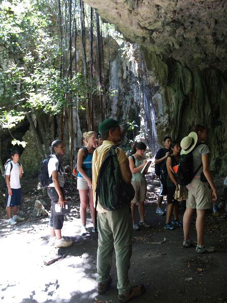 Entering Ritidian Cave