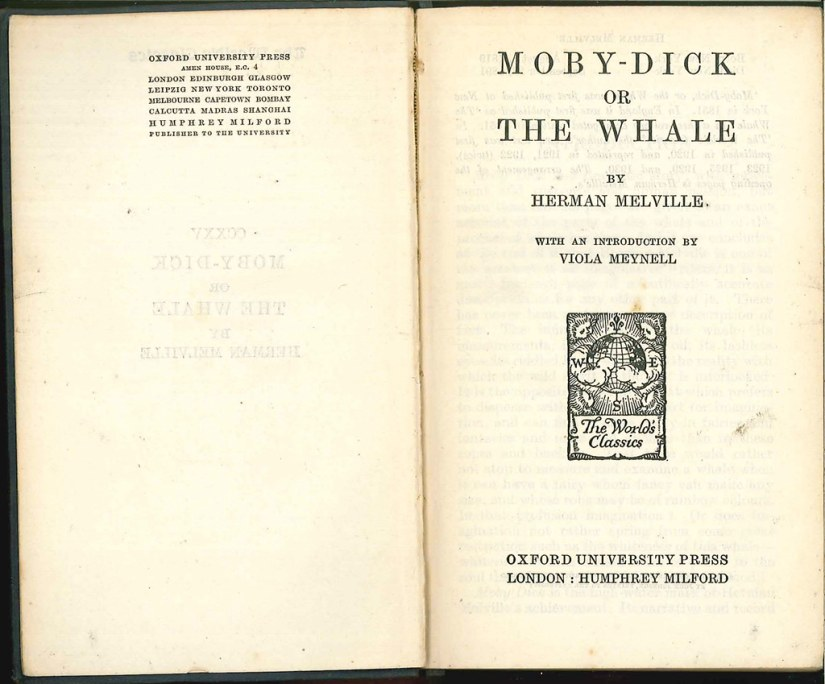 Moby-Dick (Title Page) | Moby-Dick or, The Whale, by Herman … | Flickr