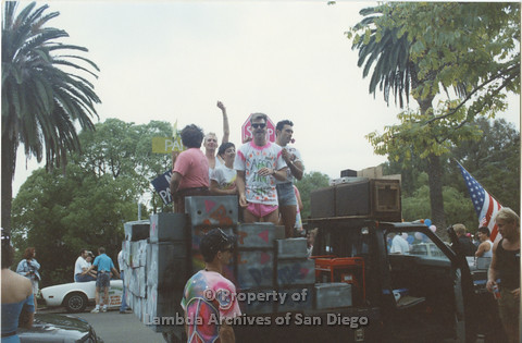 P001.047m.r Pride 1991: AIDS Foundation San Diego Parade Float