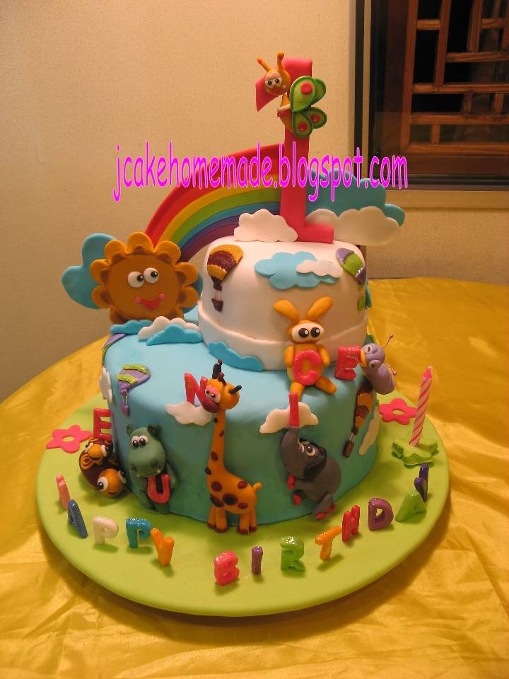 Baby Tv Theme Birthday Cake Happy 1st Birthday Eunice
