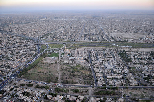 Secretary Kerry's Helicopter Flies Over Baghdad En Route to Airport