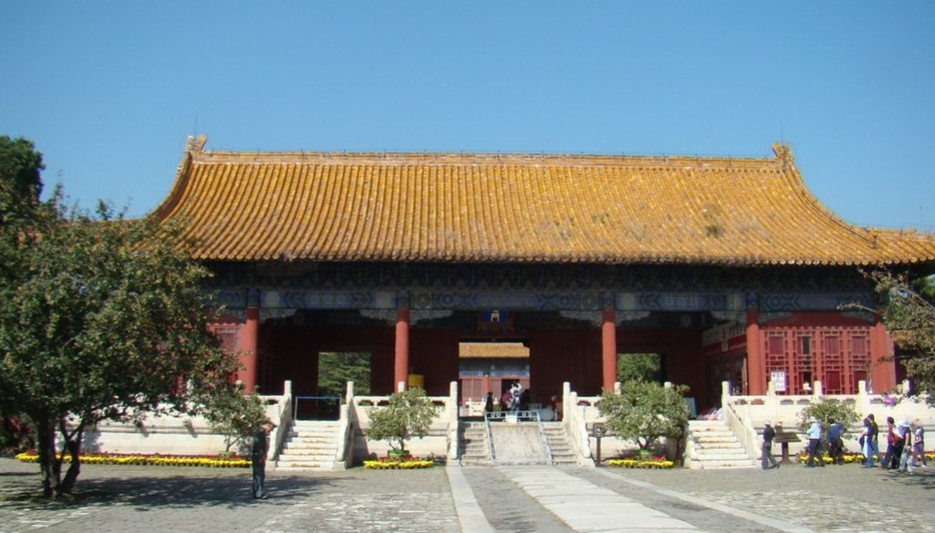 edificio exterior puerta sala de los Favores Ilustres Tumbas de Ming China Patrimonio de la Humanidad Unesco