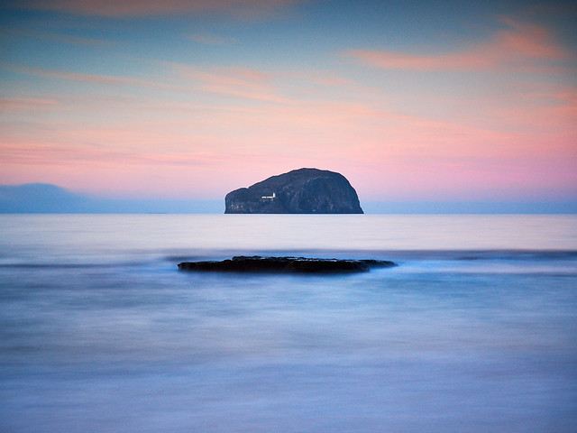 Bass Rock from Seacliff Beach II, East Lothian