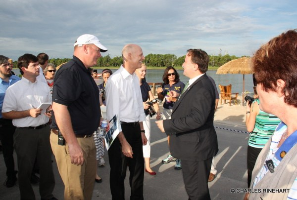 Florida Governor Rick Scott At Benderson Park In Sarasota ...