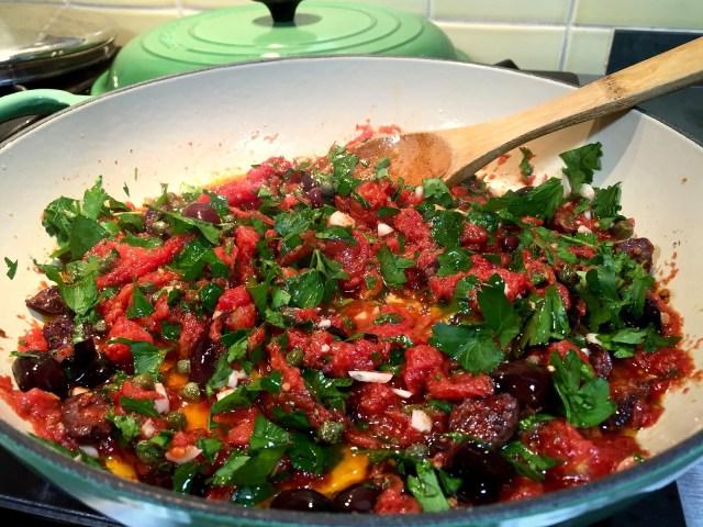 simmering ingredients