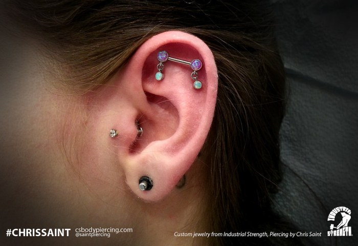 Custom Ear Piercing By Chris Saint Custom Made Jewelry Fro Flickr