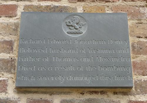 Memorial to REJ Henty