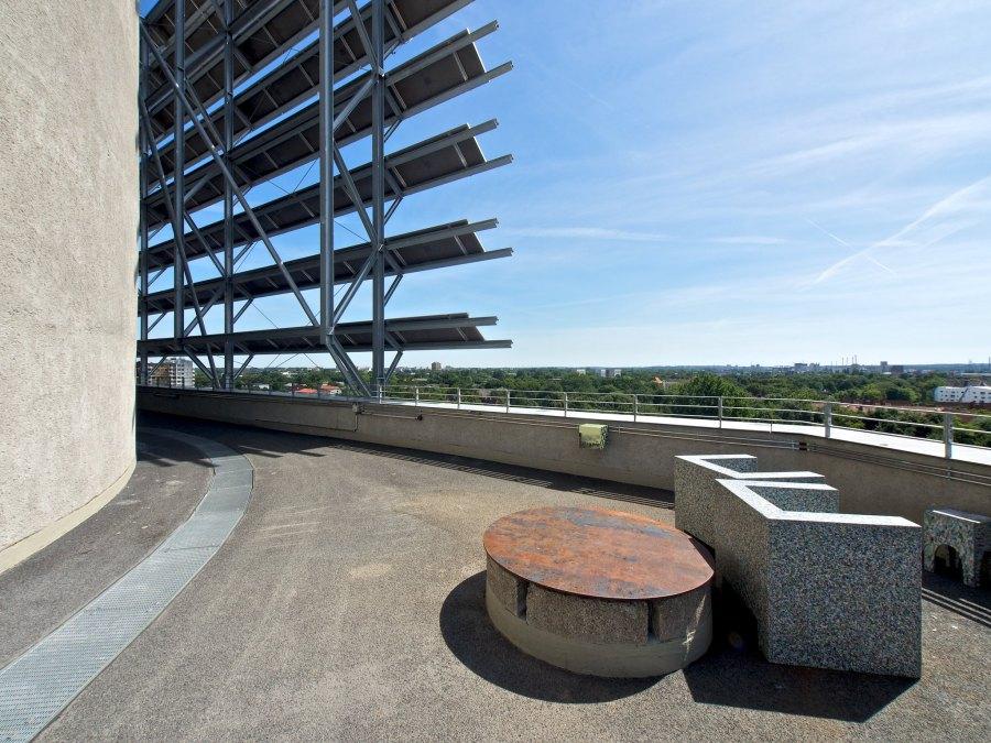 Uitzicht vanaf Energiebunker Wilhelmsburg in Hamburg | foto Lars-Christian Uhlig