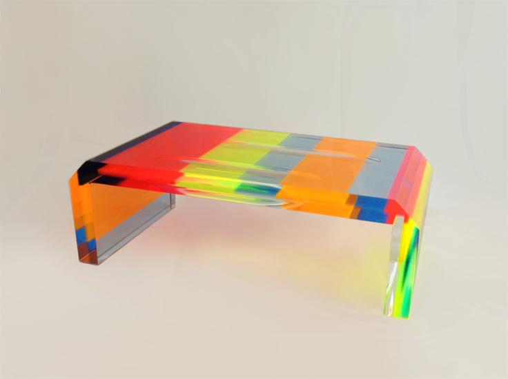 coffee table in plexiglas multicolor cm