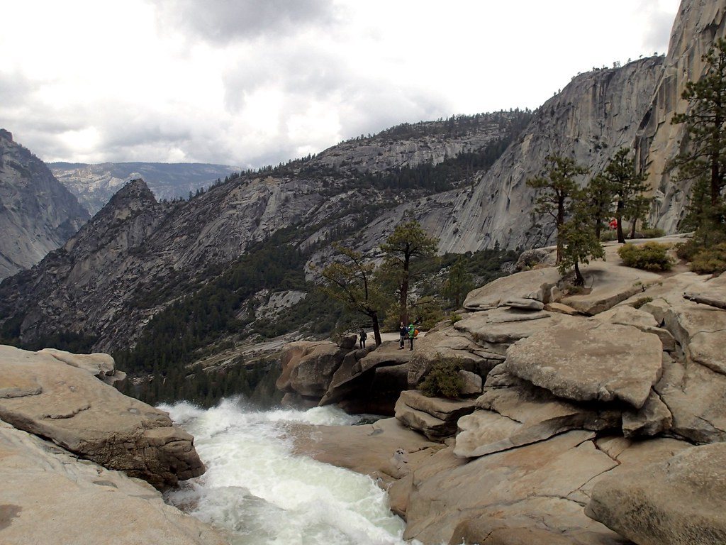 Looking over the top of Nevada Falls