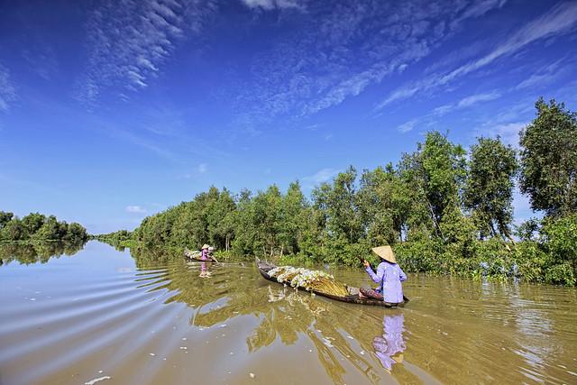 Flooding in Mekong River Delta, Vietnam