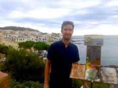 Daniel J Keys Oil Painting Workshop Spain with www.frenchescapade.com