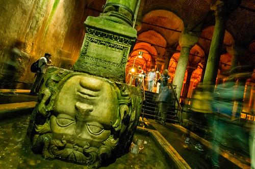 Medusa's indignity. Basilica Cistern, Istanbul