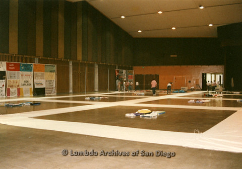 AIDS Quilt at San Diego Golden Hall,1988