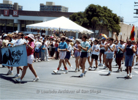 P018.025m.r.t San Diego Pride Parade 1988: Marchers for Front Runners San Diego