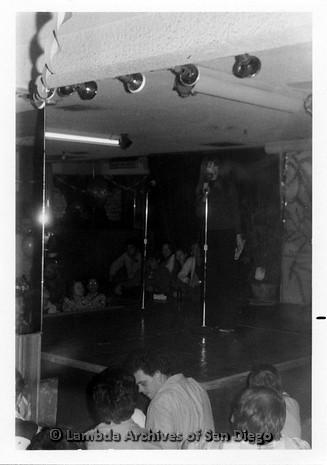 P355.013m.r.t Jane Fonda Barbary Coast Fundraiser for Tom Hayden: Jane Fonda (?) on stage