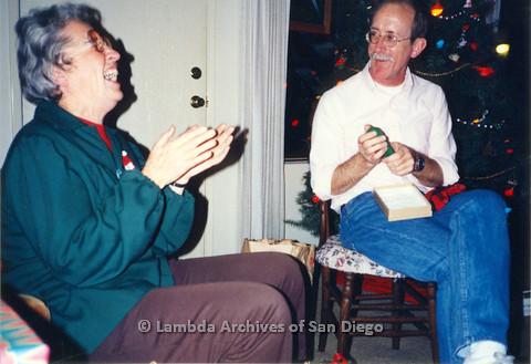 Neva Rees (left) and Jess Jessop (right), Christmas Eve 1987