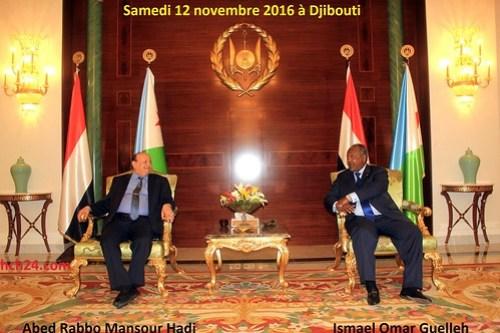 Abed Rabbo Mansour Hadi et Ismael Omar Guelleh