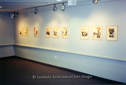 P126.038m.r.t Michelangelo Project by Jim Machecek: One exhibit wall