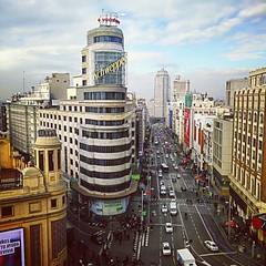 Me encanta esta vista de la Gran Vía de #Madrid