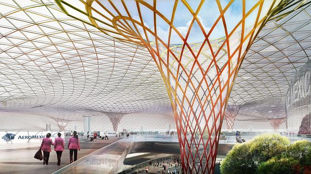 """Nuevo Aeropuerto Internacional de la Ciudad de México """"Benito Juárez""""."""