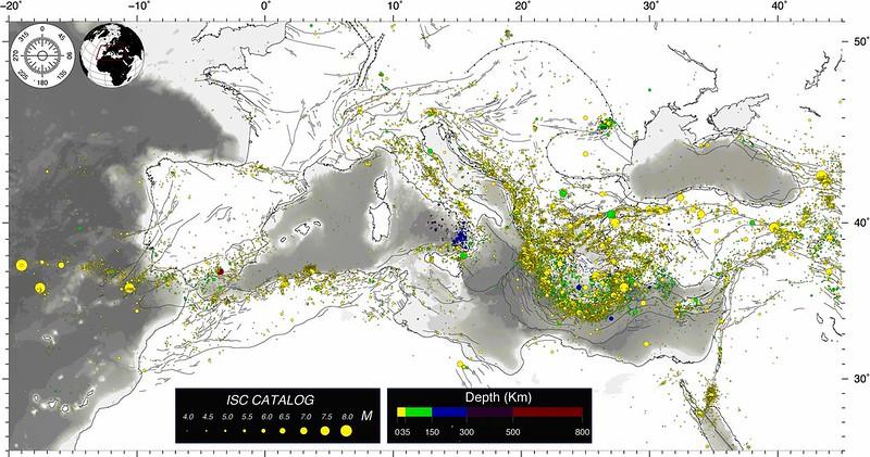 Sismicità del Mediterraneo / Seismicity of the Mediterranean basin