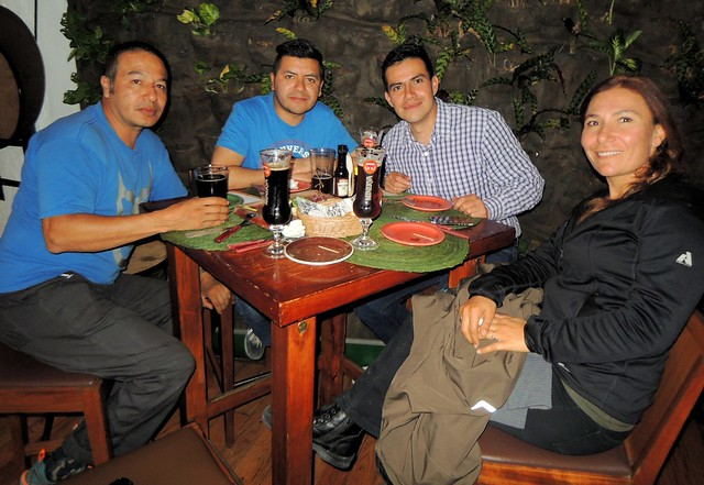 Isaac, Luis, Ayax, Ferda trying some of Mexico's craft beers (Minerva, Cosaco, and Iztapalapa labels, I believe) by bryandkeith on flickr