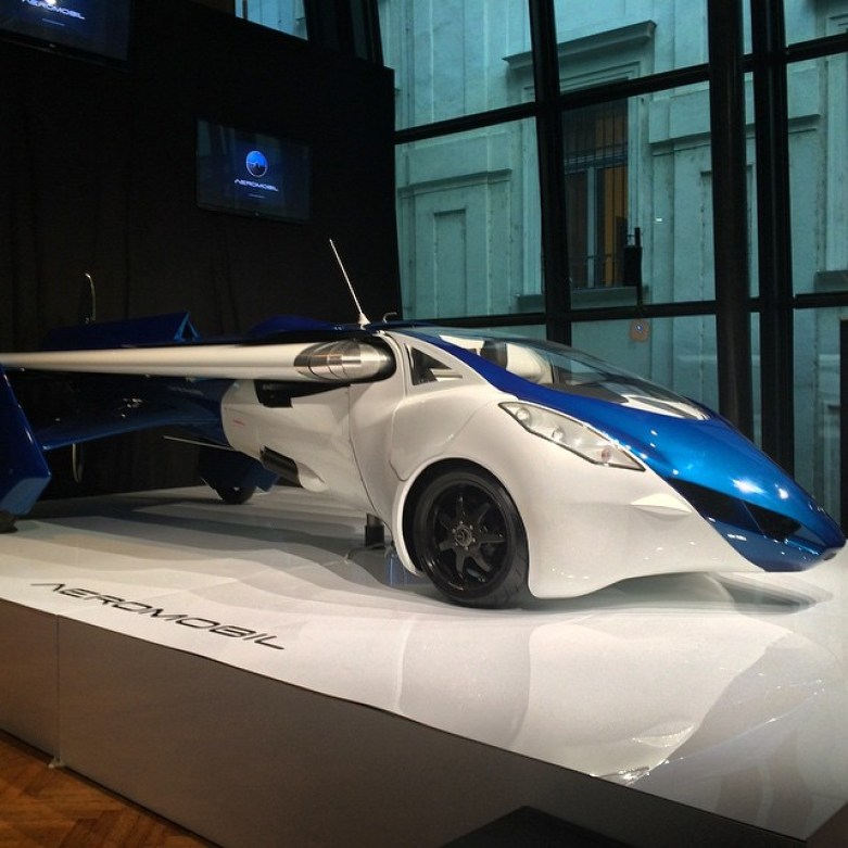A flying car. Really. #Aeromobile 3.0 unveiled at #pioneer… | Flickr