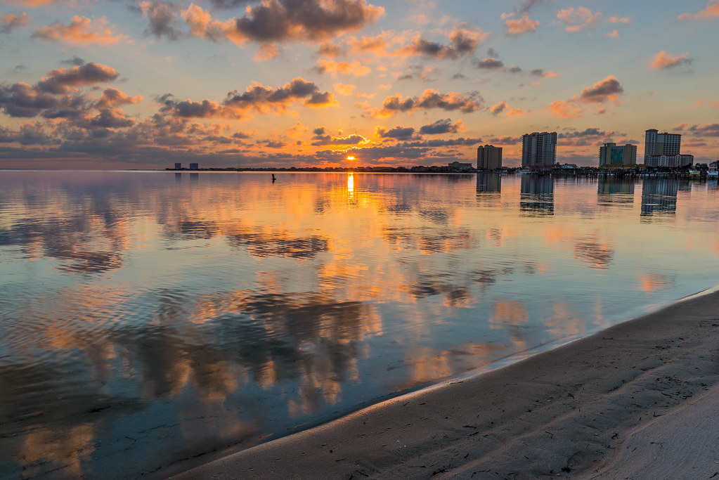Pensacola Beach Sunrise 10 11 2014 Colors And