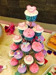 pink&violet theme wedding cupcake